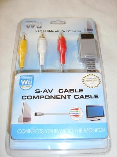 Cable Audio Y Video Para Wii Y El Wii U