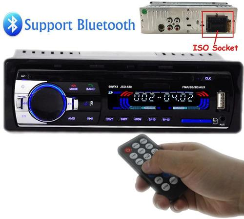 Equipo De Sonido Para Vehiculos Usb Aux Sd Bluetooth Fm