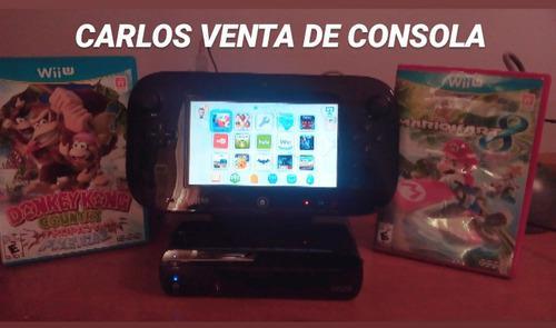 Nintendo Wii U 32 Gb Negro 5 Juegos Oferta