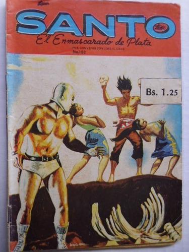 Santo, El Enmascarado De Plata Nro. 102 Comic En Físico