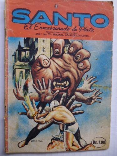 Santo, El Enmascarado De Plata Nro. 59 Comic En Físico