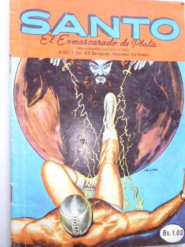 Santo, El Enmascarado De Plata Nro. 63 Comic En Físico