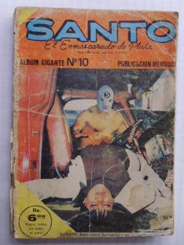Santo, El Enmascarado De Plata Tomo Nro. 10 Comic En Físico
