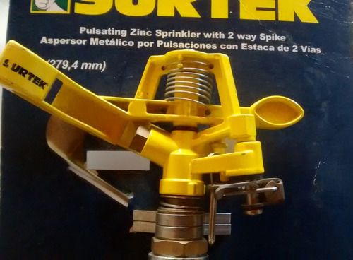 Aspersor Metalico Por Pulsaciones Con Estaca De Dos Vias