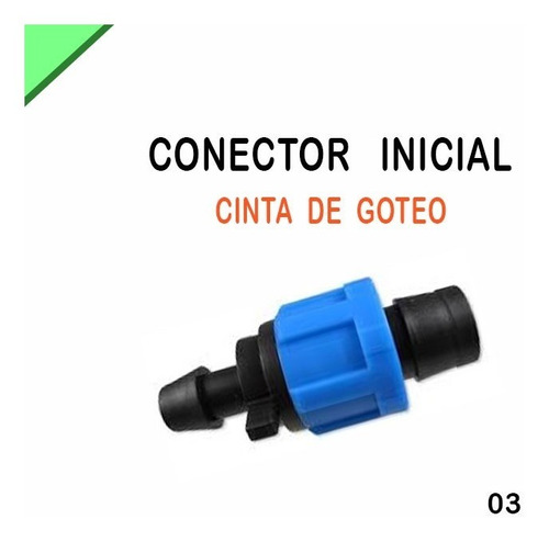 Conector Unión Cinta De Goteo Riego Importada Filtro