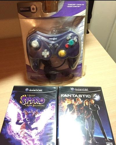 Control Gamecube Y 2 Juegos Nuevo