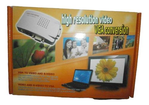 Convertidor De Video Vga Pc Lapto A Rca Al Tv Analogo