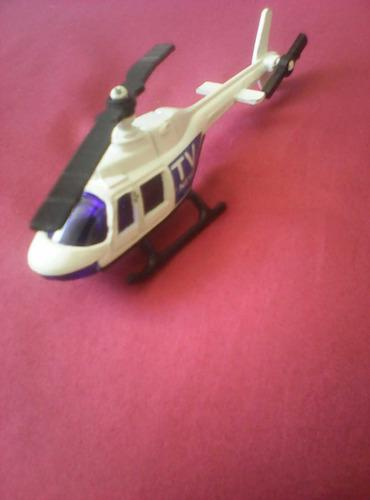 Helicóptero De Metal Para Juguete O Colección En Miniatura
