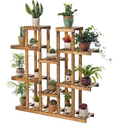 Jardinera Vertical Estante Madera Pino