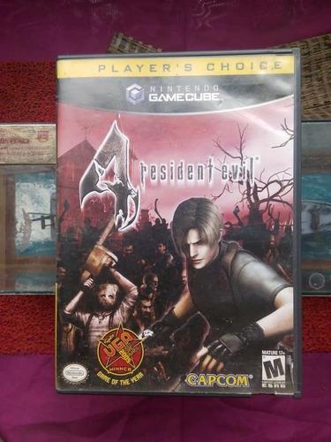 Juego De Gamecube Resident Evil 4+memory Card Original