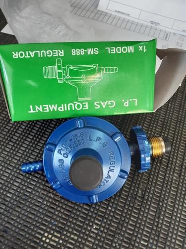 Regulador De Gas De Rosca Para Bombona De 18kg Y 43kg Azul