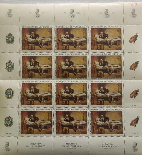 Estampillas Bloque Serie Completa #0017 República Venezuela