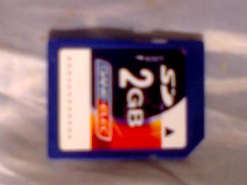 Memoria Micro Sd 2gb Para Camara, Con Adaptador Usb Y Sd