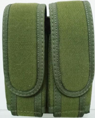Porta Cargador Doble Lona De Blassi Verde