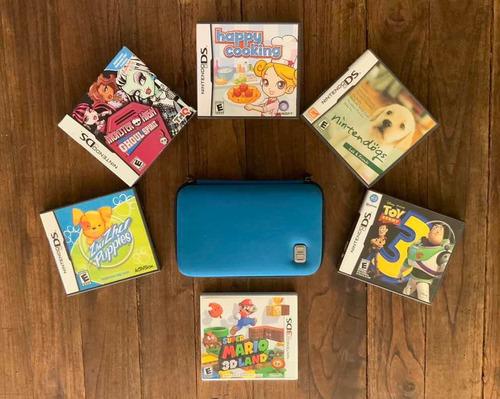 Nintendo 3ds Con Estuche Viajero, 3 Juegos 3ds Y 5 Juegos Ds