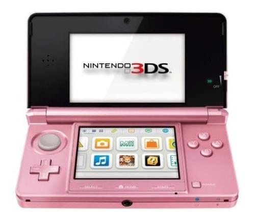 Nintendo 3ds Con Wifi Doble Pantalla Y Cámara Rosado Nuevo