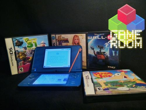 Nintendo Ds Xl Azul 9 Juegos Originales Cargador Lapiz