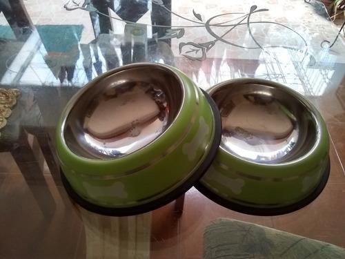 Platos De Comida Y Agua Para Mascotas Perros Y Gatos