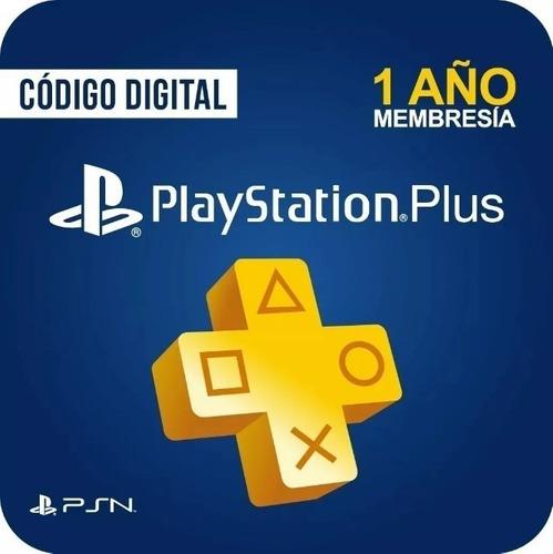 Playstation Plus 12 Meses Codigo Membresia 1 Año Usa