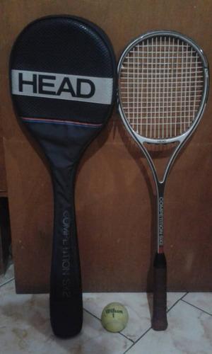 Raqueta De Tenis Squash Head Con Su Forro Y Pelota Wilson