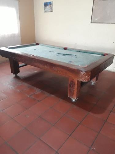 Mesa De Pool Profesional 100% Madera