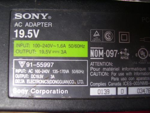 Cargador Adaptador Laptop Sony Vaio 19.5v New