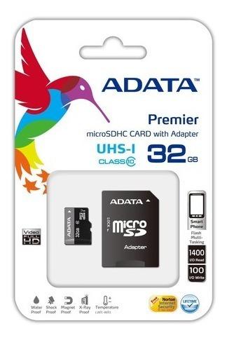 Memoria Micro Sd 32 Gb Adata Clase 10