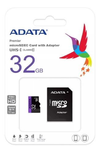 Memoria Micro Sd 32gb Clase 10 Adata 100% Originales