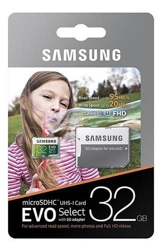 Memoria Micro Sd 32gb Original Samsung Evo Class 10 U1