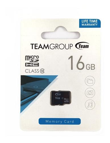 Memoria Micro Sd Hc 16gb Team Group Clase 10