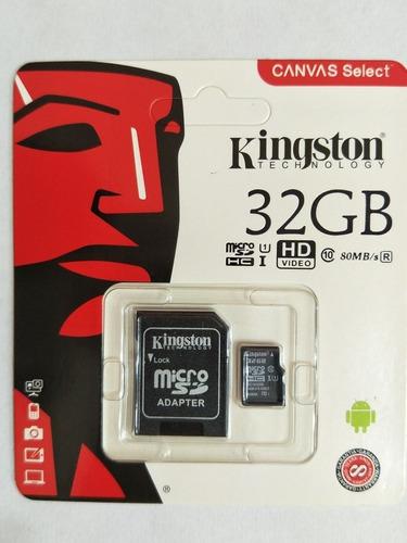 Memoria Micro Sd Hc 32gb Kingston Clase 10 Original