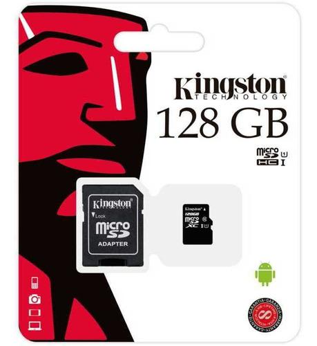 Memoria Micro Sd Kingston 128 Gb Canvas Clase 10 Tienda