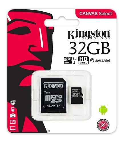 Memoria Micro Sd Kingston 32gb Class mb/s Sdcs/32gb