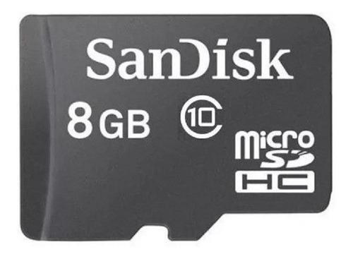 Memoria Micro Sd Sandisk 8 Gb Clase 4 Sueltas Con Cajiita