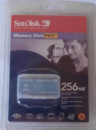 Memoria Sandisk 256 Mb Memory Stick Pro Adaptador Nuevo
