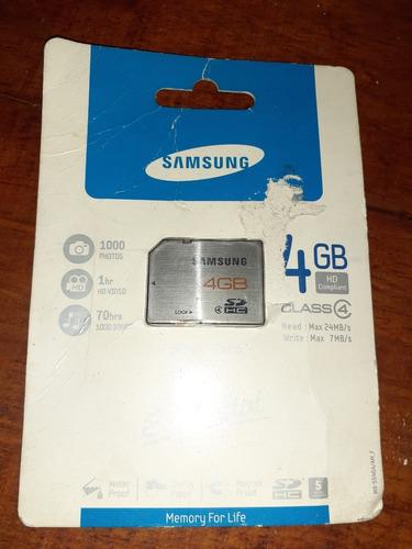 Memoria Sd 4gb Samsung Nueva