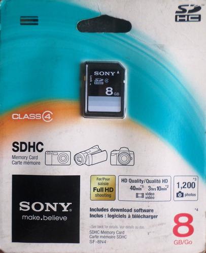 Memoria Sony Sd 8gb Ideal Porta Retratos Y Ds