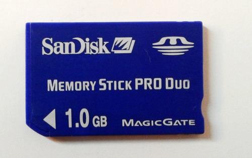 Memory Stick Pro Duo 1.0gb Sandisk Magicgate