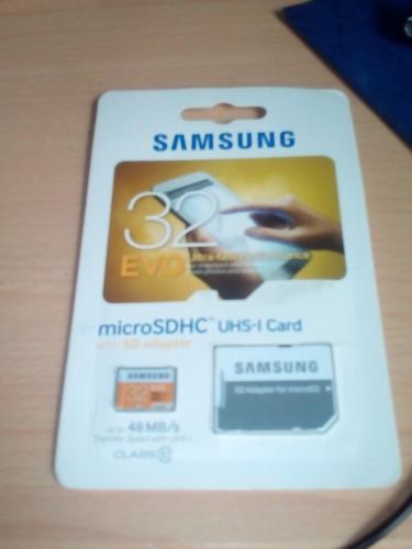 Micro Sd Samsung 32 Gn Clase 10