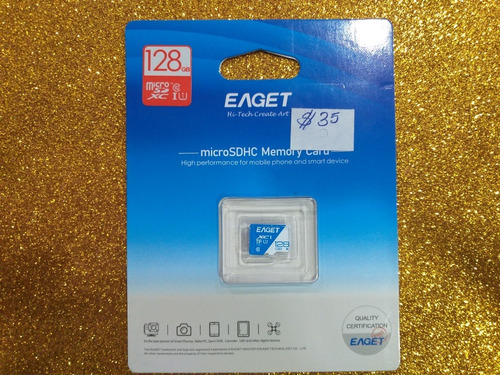 Tarjeta De Memoria Micro Sd 128gb. Eaget