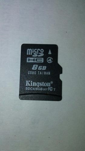 Tarjeta De Memoria Micro Sd 8gb Kingston Usada