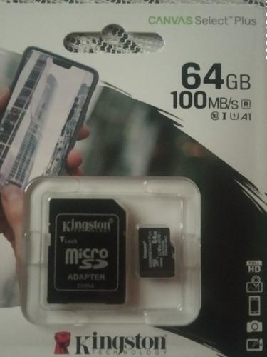 Tarjeta De Memoria Micro Sd Marca Kingston De 64 Gb