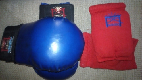 Combo De Guantines De Karate Marca Bushido Niños 5 A 8