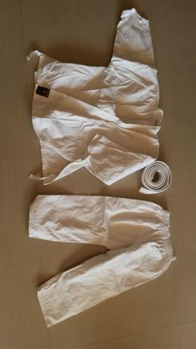 Kimono Bushido Con Cinturón Blanco Para Niños 4-7. Talla