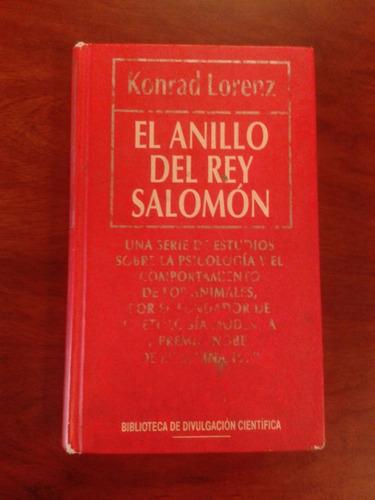 Libro El Anillo Del Rey Salomón Autor Konrad Lorenz