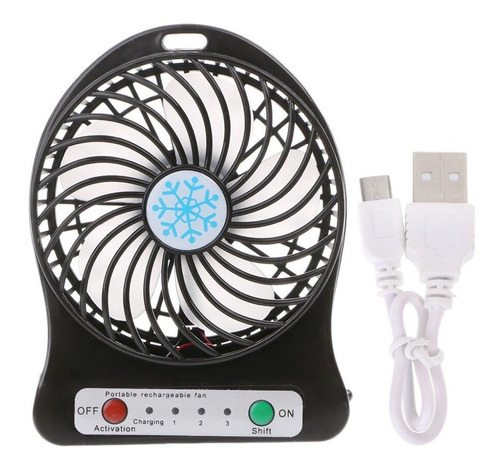 Mini Ventilador Portatil Recargable Usb 3 Velicidades Linter