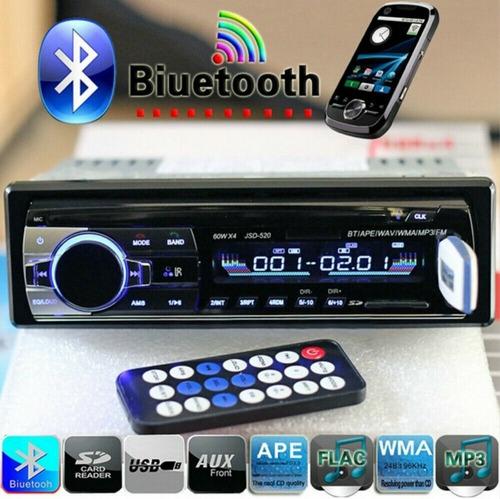 Reproductor Para Carros Con Bluetooth Puero Usb Y Sd Nuevo