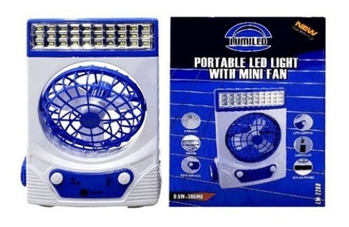 Ventilador Portatil Recargable 5 Luz Led