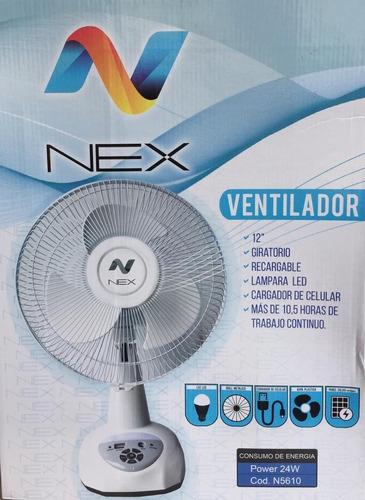Ventilador Portátil Recargable Usb Nex