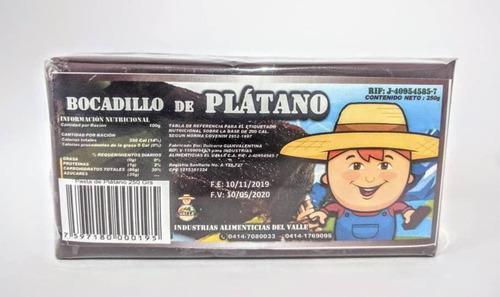 Bocadillos De Guayaba Y Plátano Presentación 250gr Y